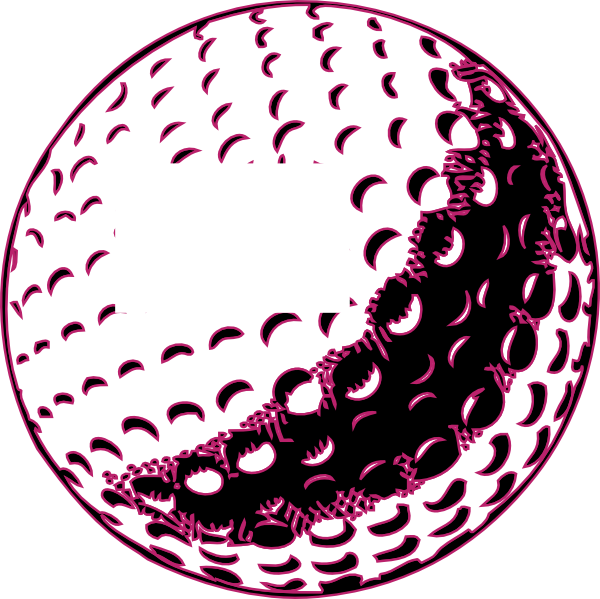 Golf Ball Clip Art Free Vector.