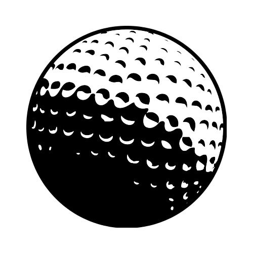 GOLF BALL 01 Clip Art.