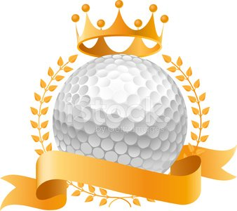 Golf Banner Gold premium clipart.