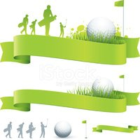 Golf Banners stock vectors.