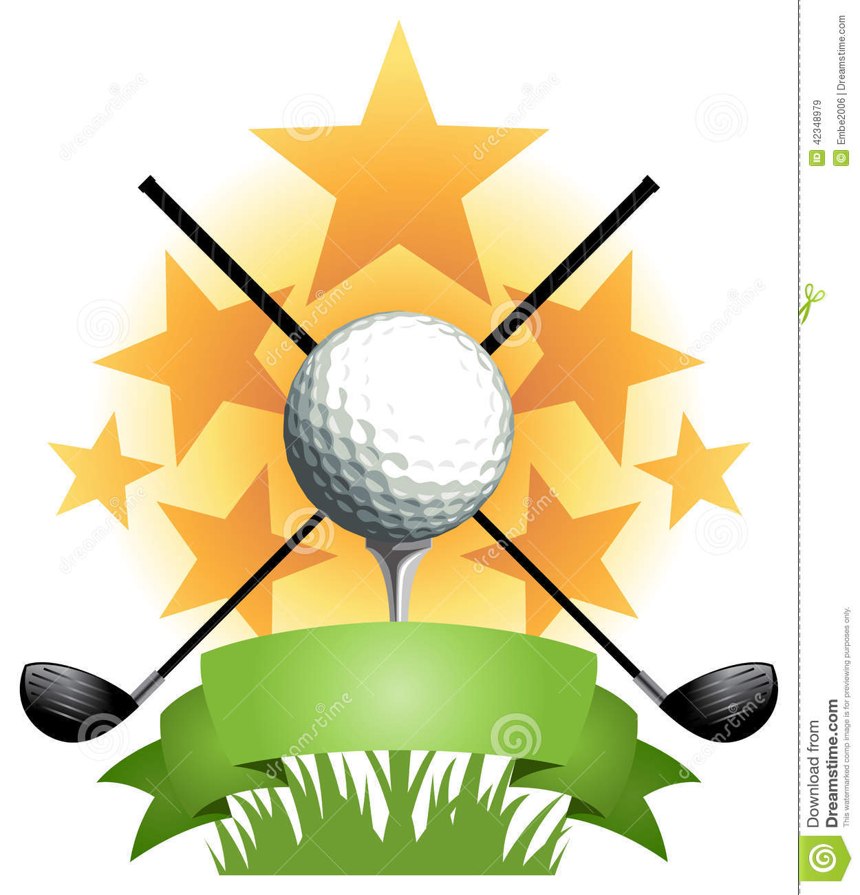 Golf Banner stock vector. Illustration of vector, cross.