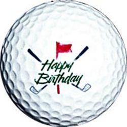 Happy Birthday Golf Ball.