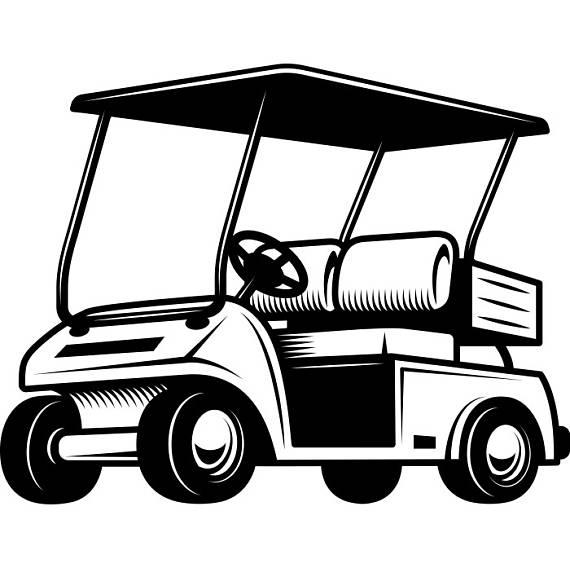 92 Golf Cart free clipart.