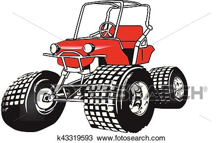 High performance golf cart. eps Clipart.