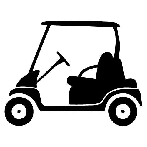 Golf cart clip art black and white clipart images gallery for free.