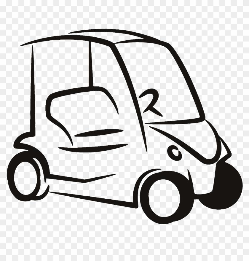 Red Golf Cart Clip Art.