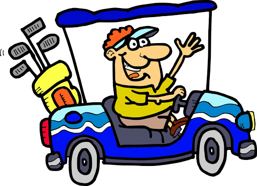 Golf buggy clipart.