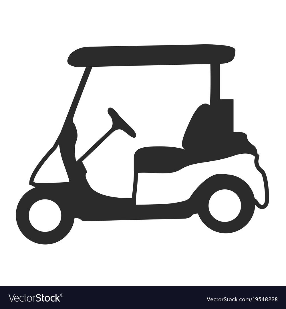 Golf cart silhouette.