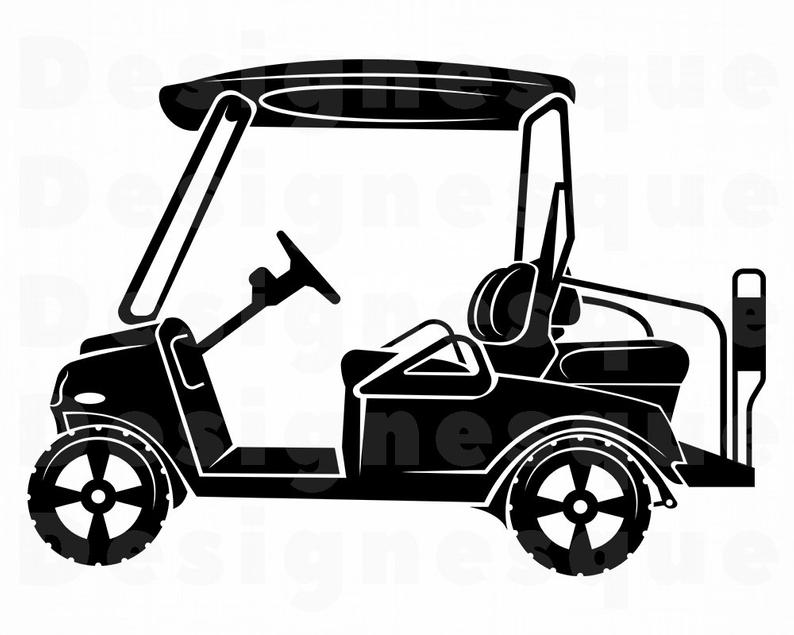 Golf Cart SVG, Golf Cart Clipart, Golf Cart Files for Cricut, Golf Cart Cut  Files For Silhouette, Golf Cart Dxf, Png, Eps, Golf Cart Vector.