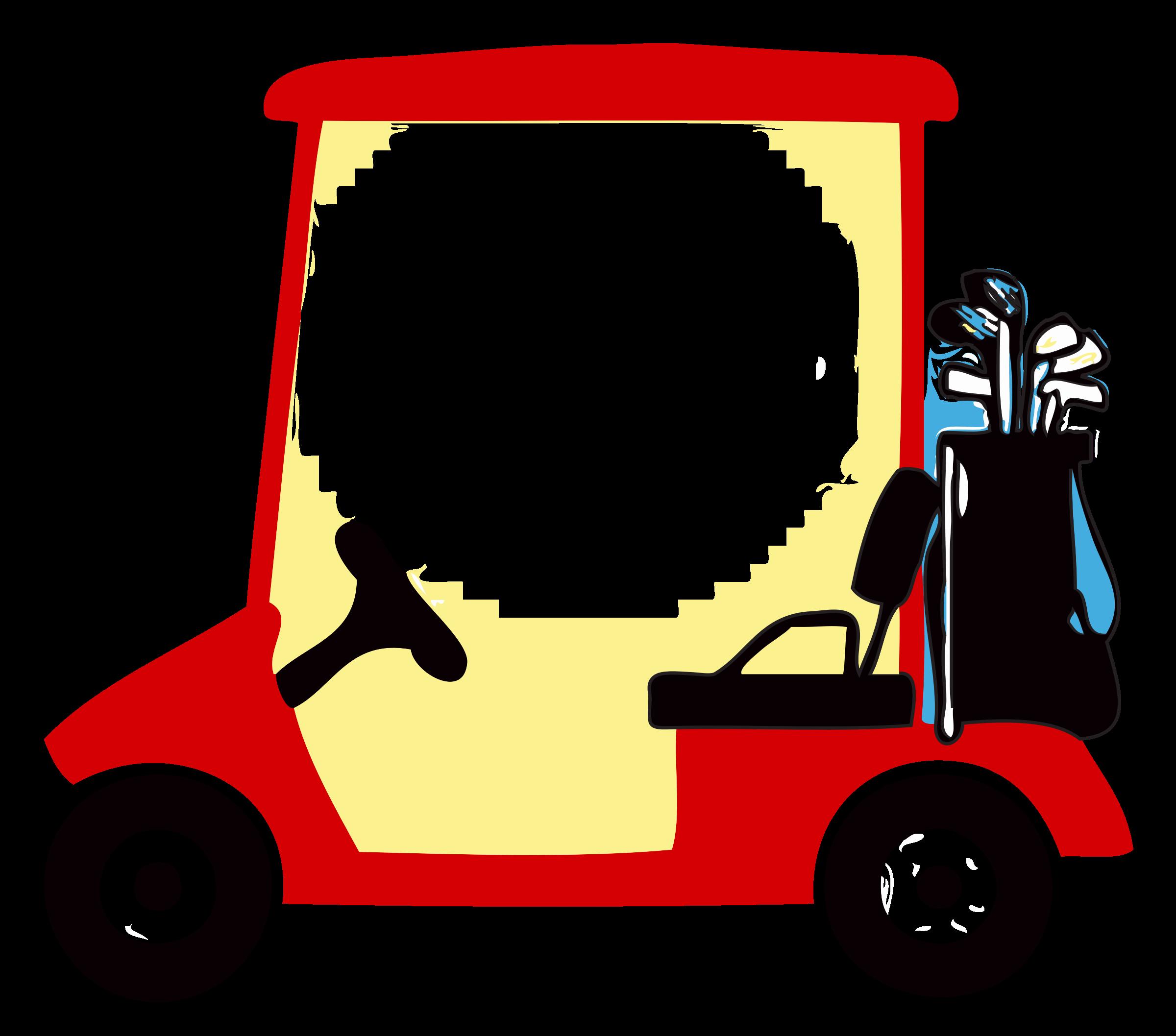 Golf Cart Vector Clipart image.