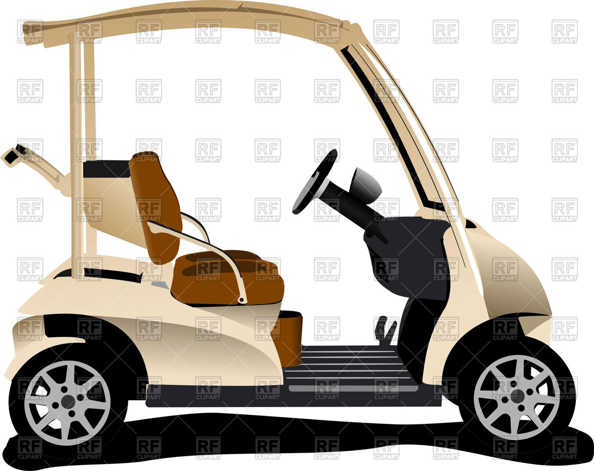 Electrical golf car Stock Vector Image.