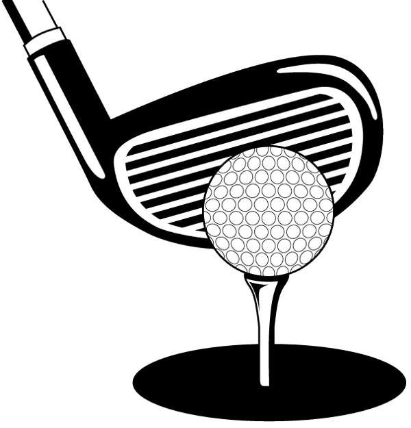 golf cart clip art black and white.