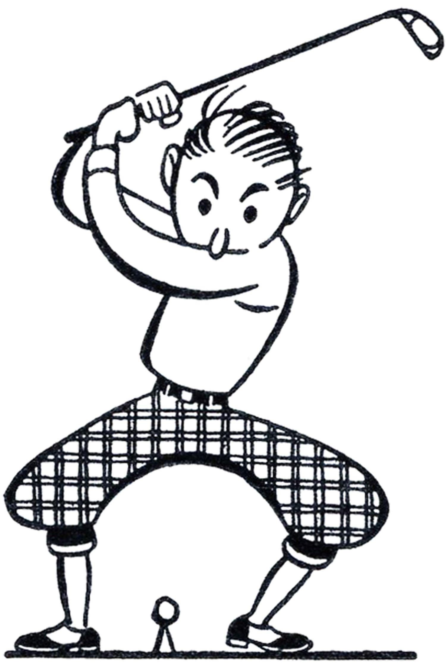 Retro Golf Clip Art.