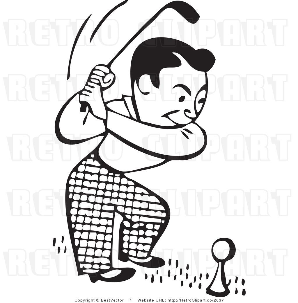 54+ Golf Clip Art Black And White.