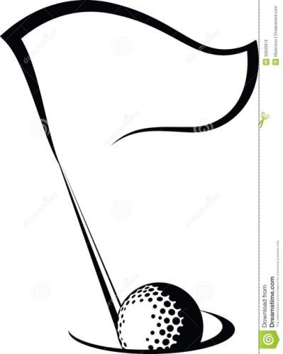 Golf Clipart Black And White Ar.