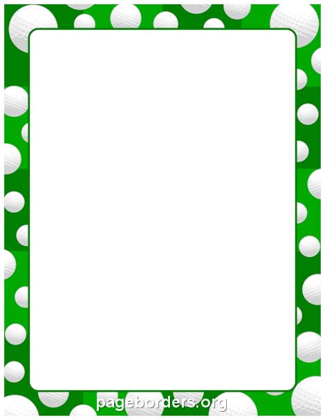 Golf Ball Border: Clip Art, Page Border, and Vector Graphics.