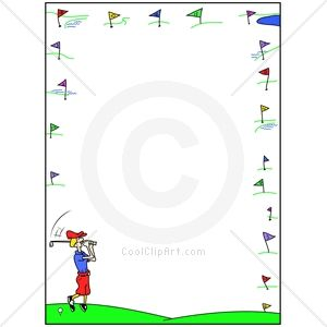 Golf Greens Border Clip Art.