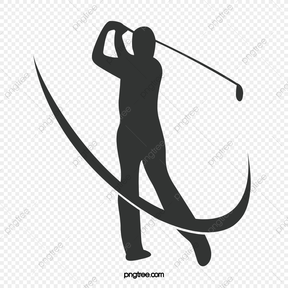 Golf, Golf Clipart, Sketch, Movement PNG Transparent Clipart Image.