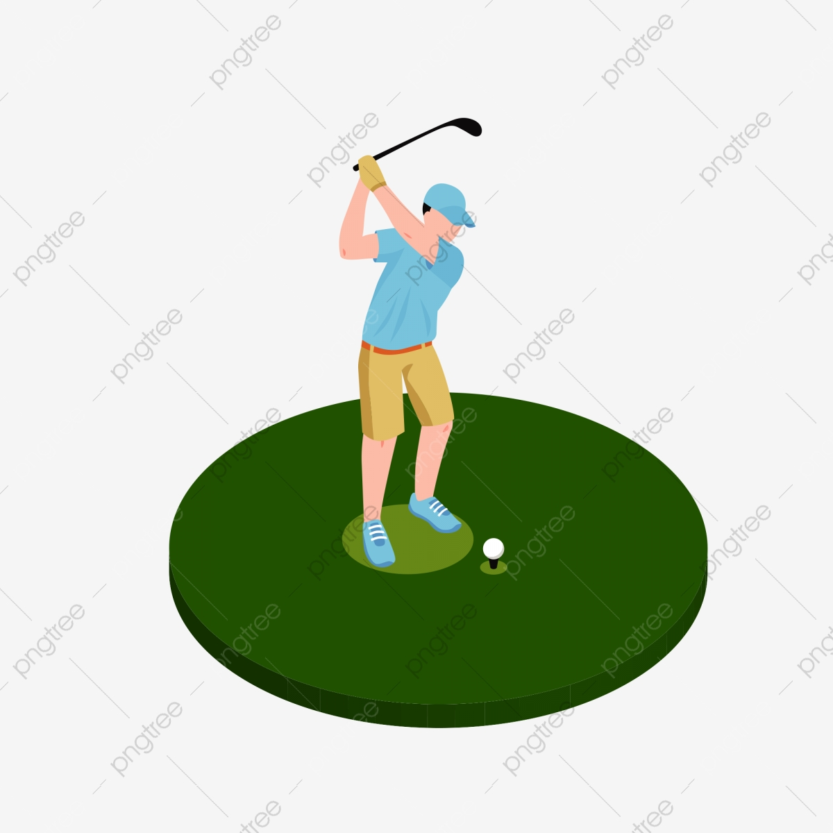 Golf, Golf Clipart, Movement PNG Transparent Clipart Image and PSD.