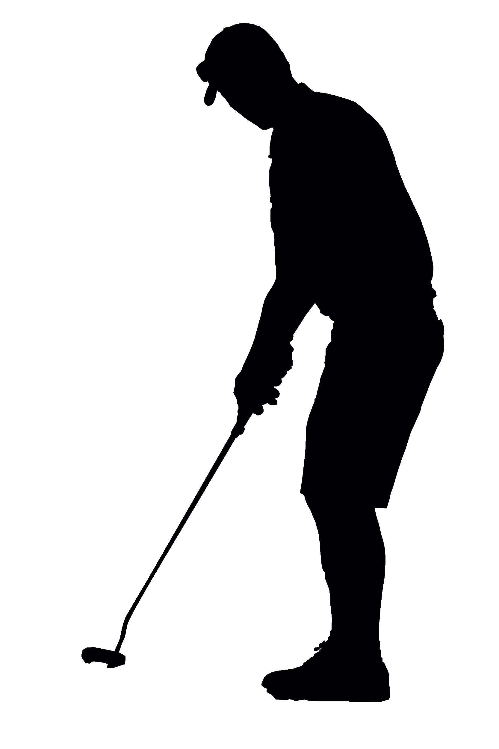 Golf Player Silhouette transparent PNG.