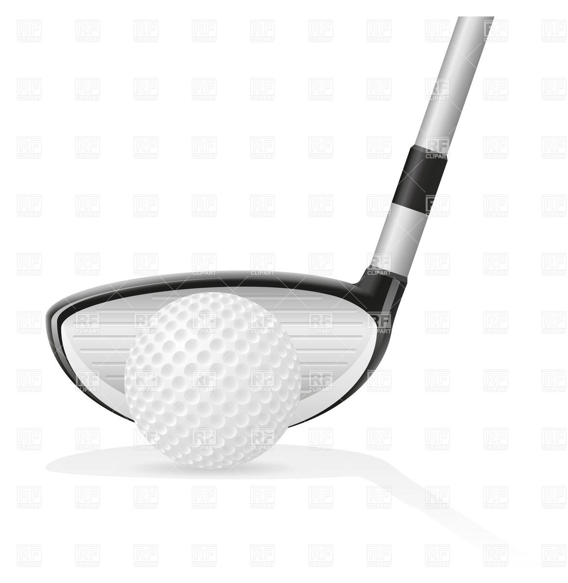 Golf ball and iron golf club Stock Vector Image.
