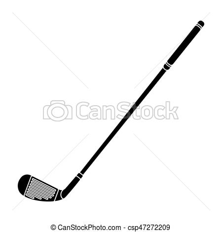 Putter for golf.Golf club single icon in black style vector symbol stock  illustration web..