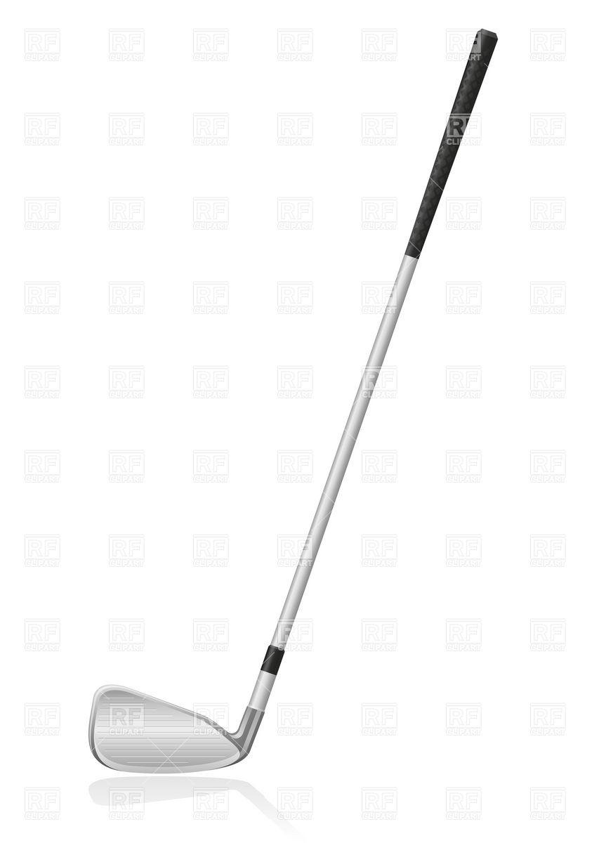 Golf Club Silhouette Clipart.