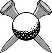 Golf Club and Ball Clip Art.