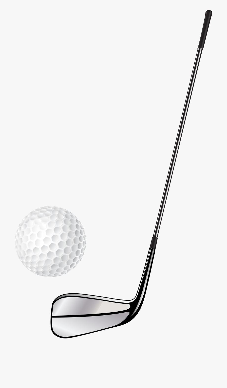 Golf Club Stick And Ball Png Clip Art.