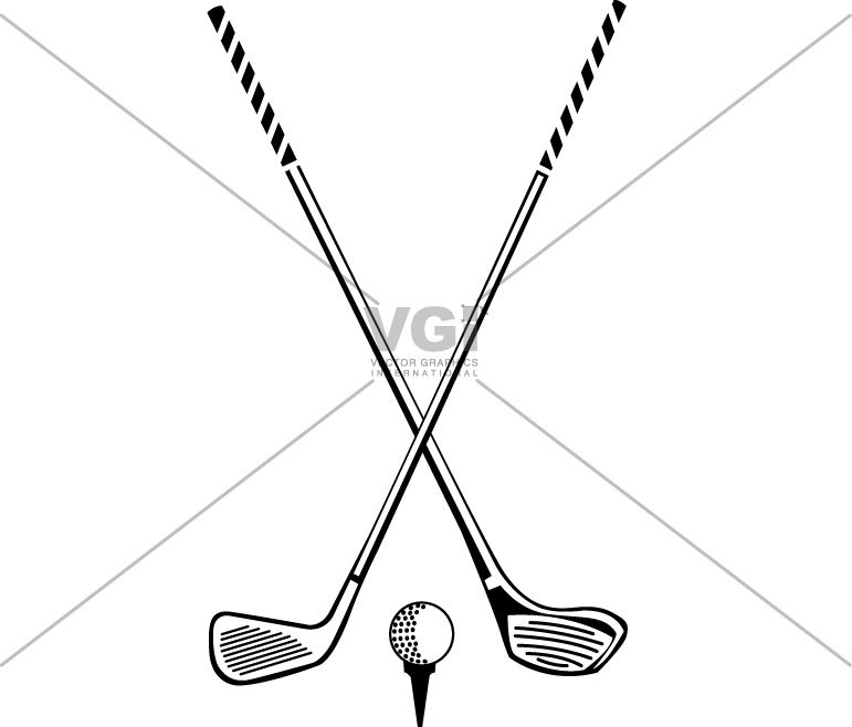 Crossed golf clubs clipart 1 » Clipart Portal.