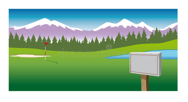 Golf Course Stock Illustrations.