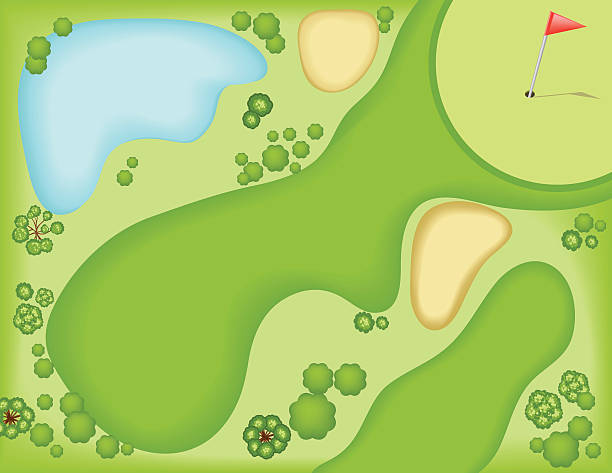 Best Golf Course Illustrations, Royalty.