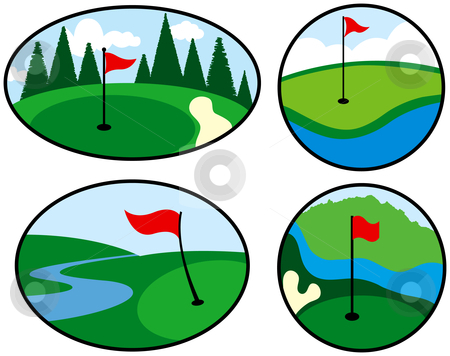 Clip Art Golf Course.