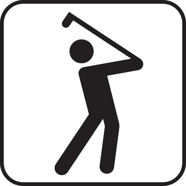 Golf Course clip art Free vector in Open office drawing svg ( .svg.