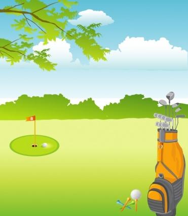 Landscape Golf Course Clip Art   Clipart Free Download.