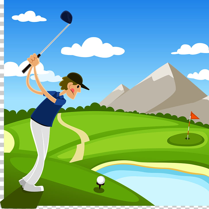 Golf course Golf club Illustration, play golf PNG clipart.