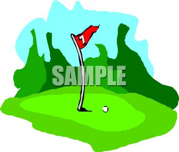 Golf courses clipart.