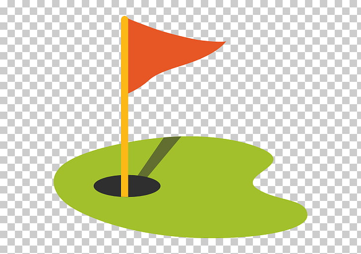 Emoji Golf Flag Sport , hole, red and yellow flaglet.