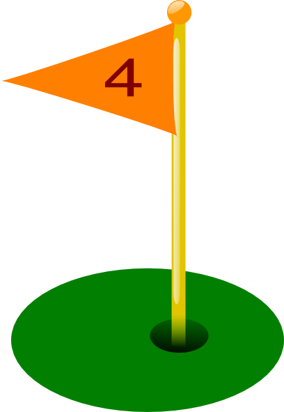 Golf Flag Clip Art.