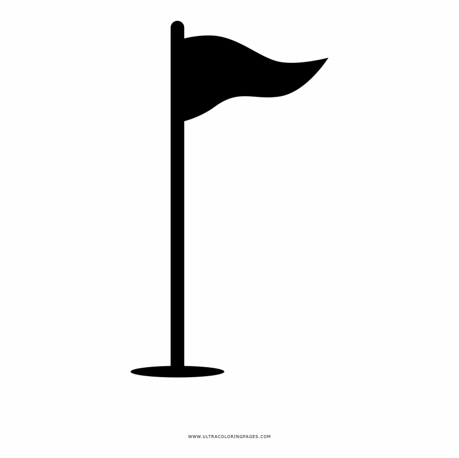 Golf Flag Coloring Page.