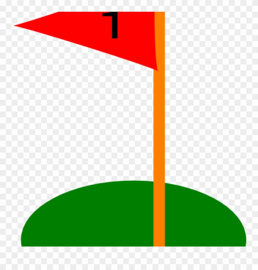 Golf Flag Clipart Hole Flags Ball Pencil And In Color.