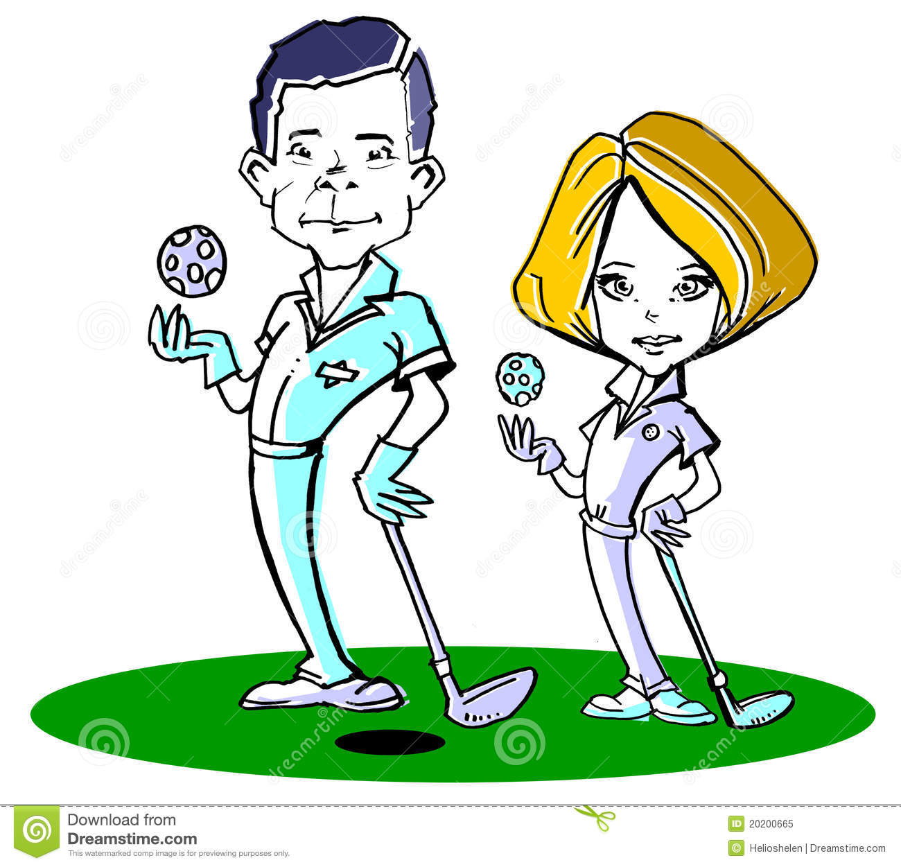 Couples golf clip art.
