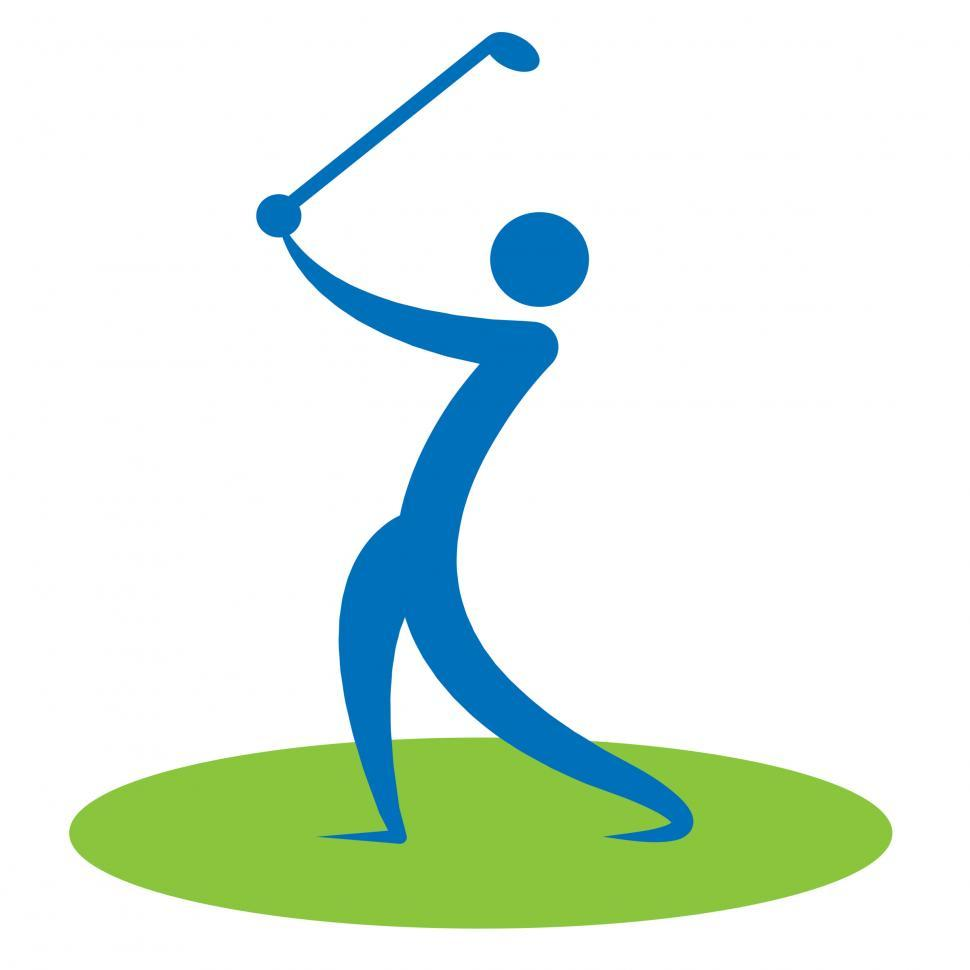 Free Stock Photo of Golf Swing Man Indicates Game Human And Player.