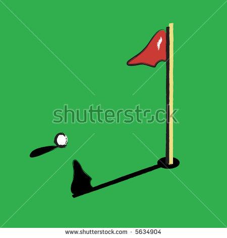 Vector Clipart Golf Ball Near Hole Stock Vector 5634904.