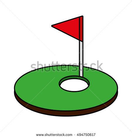 Hole Golf Sport Flag Icon Vector Stock Vector 494751184.