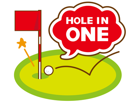 Hole in one with golf.