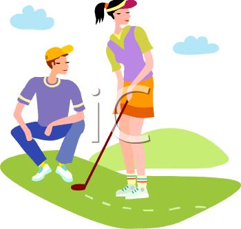 Golf lesson clipart.