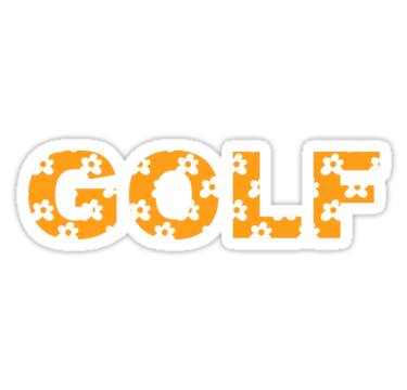 Flower Golf Logo Orange.