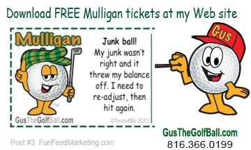 Download free funny Mulligan ticket templates for your next golf.