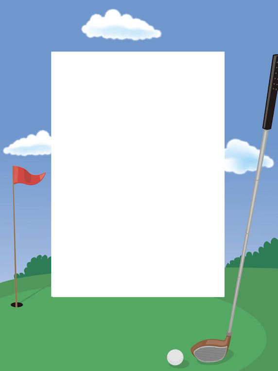 Golf Page Borders Clipart.